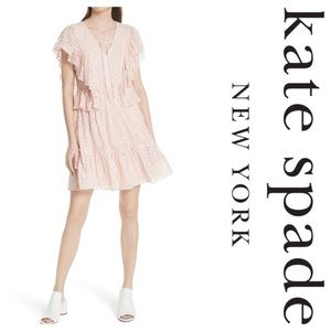 Kate Spade Embroidered Chiffon Dress Pearl PinkNWT